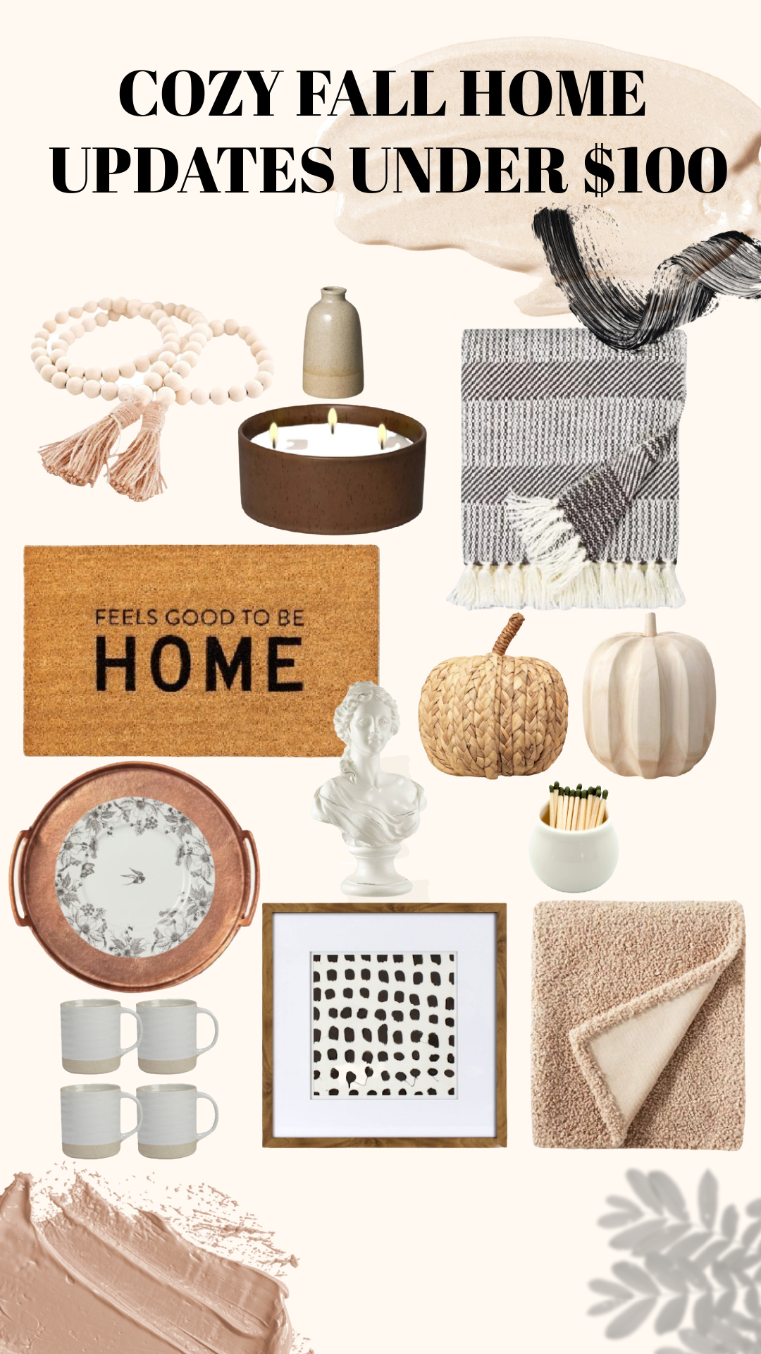 COZY FALL HOME UPDATES UNDER $100